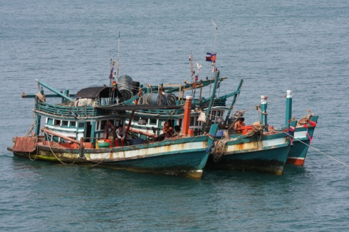 Cambodian fishing boats