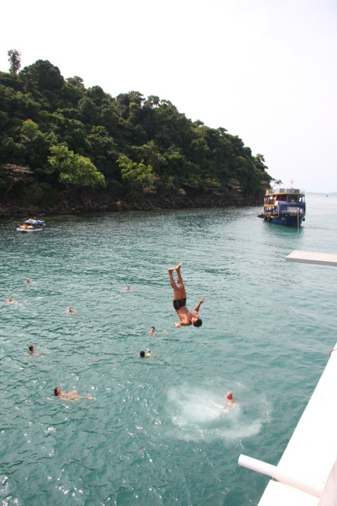 Diving off the party boat