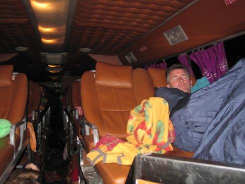 Double layer sleeping bus