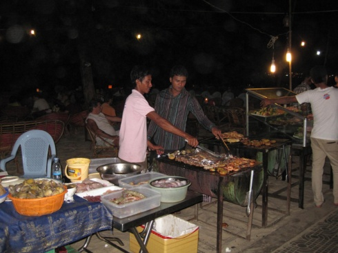 Evening beach BBQ