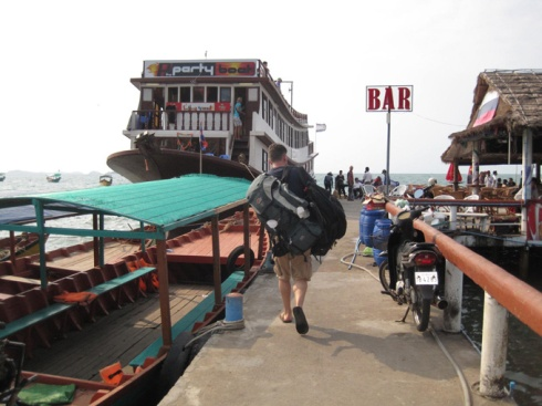 Loading up the boat to Koh Rong Samloem