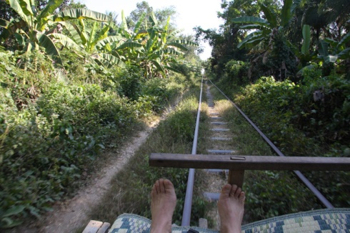 Ride on the bamboo train