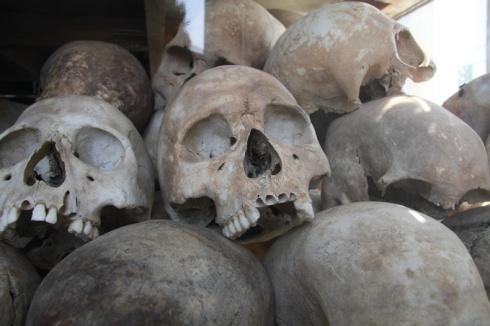 Skulls in the memorial
