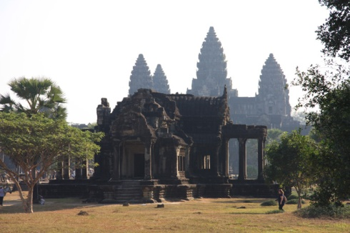 South west view of Angkor Wat