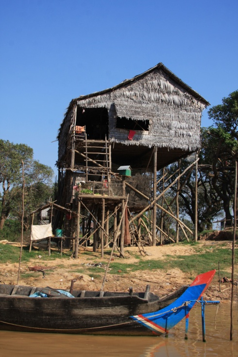 Stilt house at Kompong Pluk