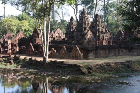View across moat Banteay Srey