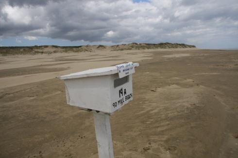 90 Mile beach post box