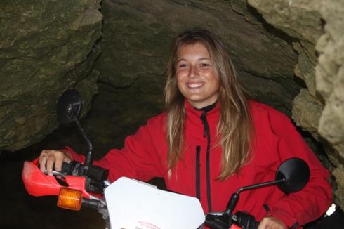 Clara and bike
