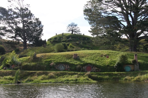 Four Hobbit houses