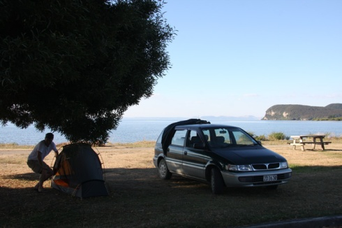 Free camping at Taupo scenic reserve