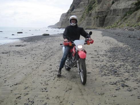 Graham on motorbike