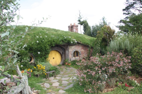 Hobbit house yellow door