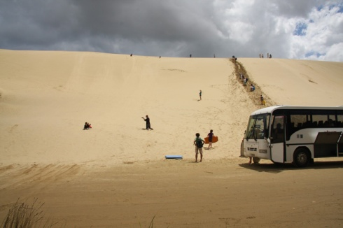 Stop at the dunes