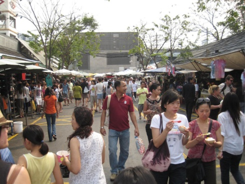 Very busy at the market